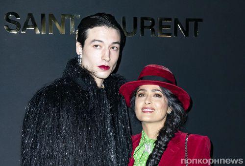 Звезда «Сумерек» Маккензи Фой, Эзра Миллер, Линдси Лохан и другие знаменитости на показе Yves Saint Laurent