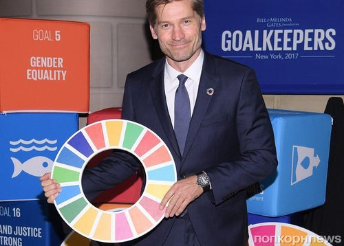Приянка Чопра, Николай Костер-Вальдау и Наоми Кэмпбелл на церемонии Global Goals Awards