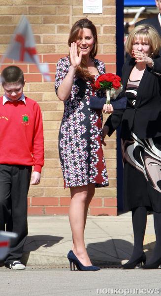 Беременная Кейт Миддлтон в Манчестере