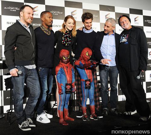"""Пресс-конференция фильма """"Новый Человек-паук. Высокое напряжение"""" в Токио"""