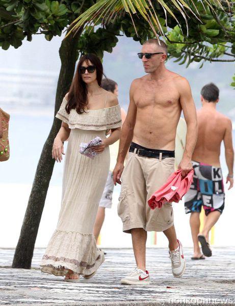 Моника Беллуччи и Венсан Кассель отдыхают в Бразилии