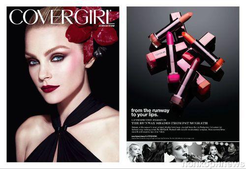 Джессика Стэм в рекламной кампании Covergirl