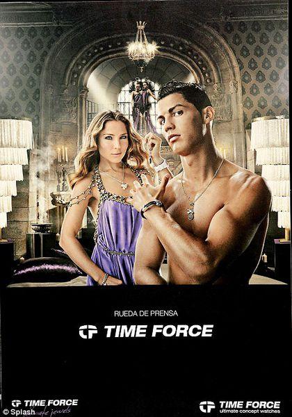 Криштиану Роналду - лицо испанской марки часов Timeforce