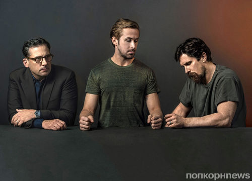 Райан Гослинг, Кристиан Бэйл и Стив Каррелл в журнале New York Magazine