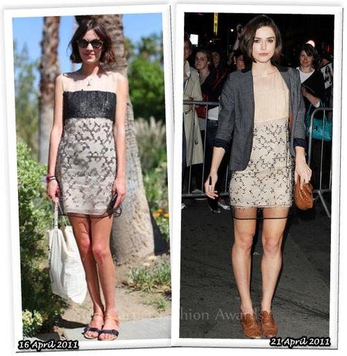 Fashion Battle: Алекса Чанг и Кира Найтли