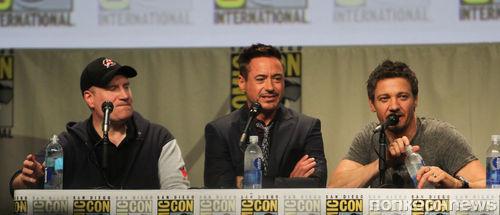 """Звезды фильма """"Мстители: Эра Альтрона"""" на конференции в Сан-Диего"""