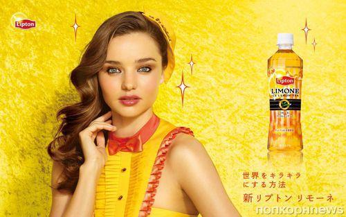 Миранда Керр в рекламе холодного чая Lipton Limone