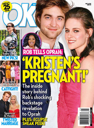 Журнал OK! заявляет: «Роб сказал Опре: Кристен беременна!»
