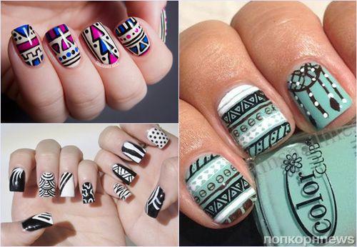 Модные рисунки на ногтях лето 2016: фото трендов