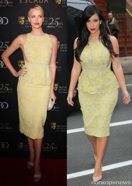 Fashion battle: Шарлиз Терон и Ким Кардашян