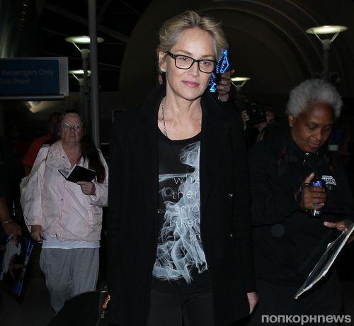 57-летняя Шэрон Стоун не боится появляться без макияжа