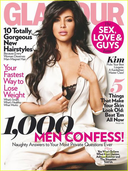 Ким Кардашиан в журнале Glamour