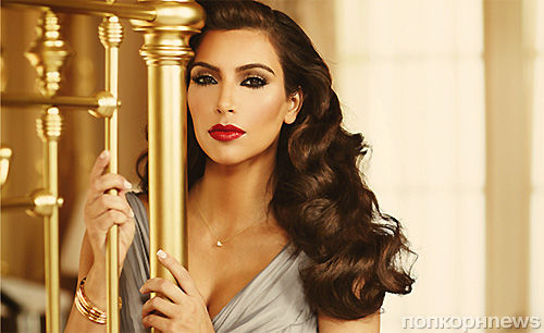 Ким Кардашиан в рекламной кампании своего аромата True Reflection