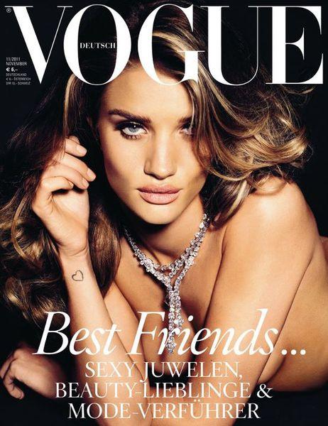 Роузи Хантингтон-Уайтли в журнале Vogue. Германия. Ноябрь 2011