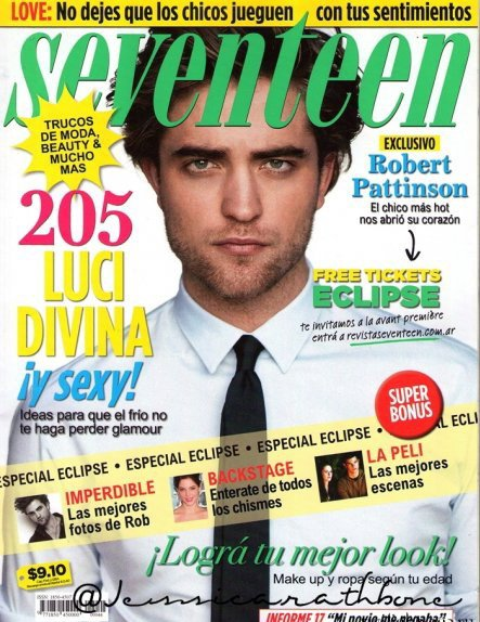 Интервью Роберта Паттинсона для Seventeen Magazine. Аргентина. Июнь 2010