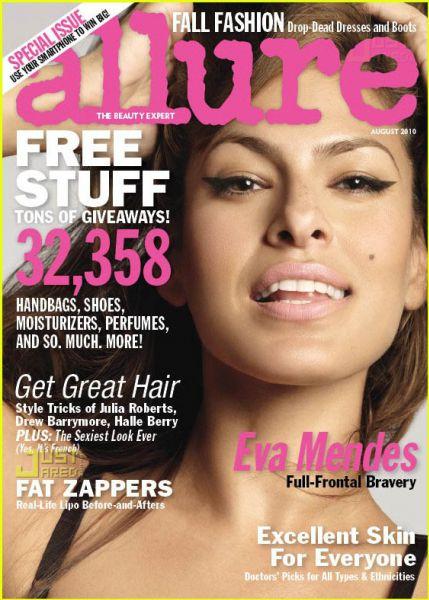 Ева Мендес для журнала Allure. Август 2010