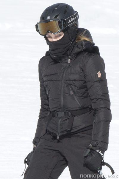 Мадонна катается на лыжах в Швейцарии