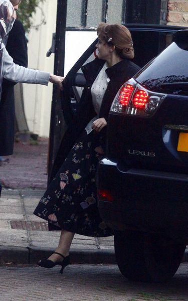 Эмма Уотсон на съемках фильма «Моя неделя с Мэрилин»