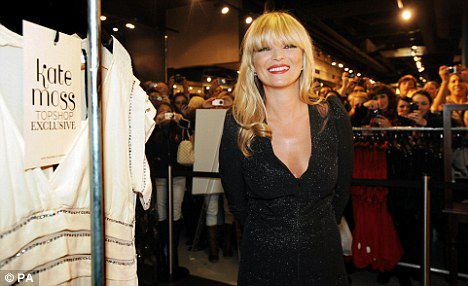 Кейт Мосс представила свою последнюю коллекцию для TopShop