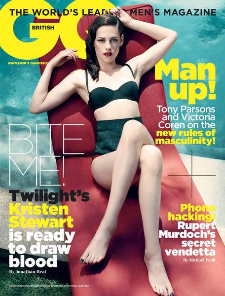 Кристен Стюарт на обложке GQ UK. Ноябрь 2011