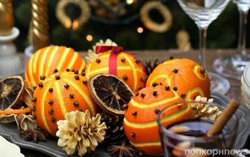 Новогодние украшения из апельсинов для елки, стола и интерьера