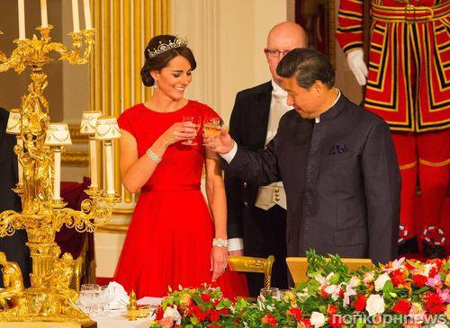 Кейт Миддлтон побывала на благотворительном ужине с президентом Китая