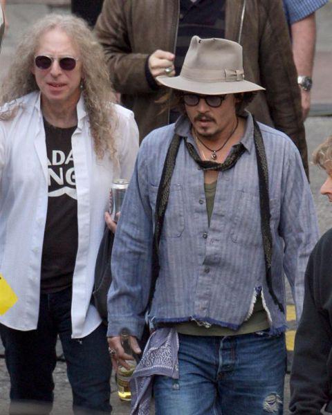 Джонни Депп на съемках документального фильма о Ките Ричардсе
