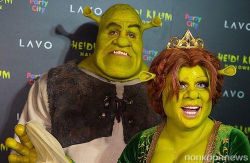 Хайди Клум и Том Каулитц нарядились в Фиону и Шрека на Хэллоуин