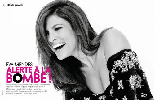 Ева Мендес в журнале Elle Франция. Октябрь 2011