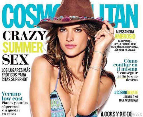 Алессандра Амбросио на обложке журнала Cosmopolitan Мексика, июнь 2016