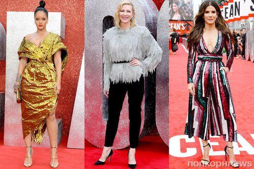 Рианна, Сандра Буллок, Кейт Бланшетт и другие звезды «8 подруг Оушена» на премьере в Лондоне