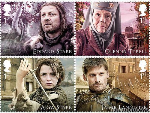 Фото: британская почта выпустит марки с героями «Игры престолов»