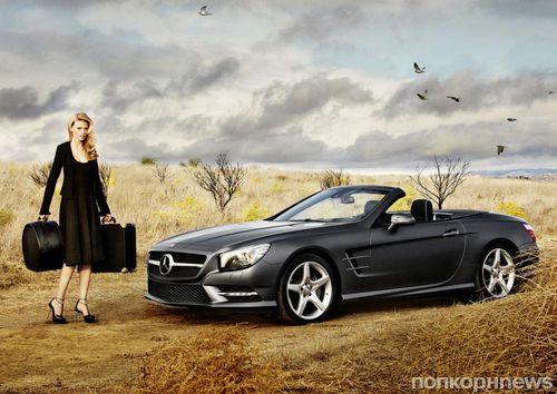 Лара Стоун в рекламной кампании Mercedes-Benz