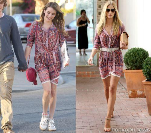 Fashion battle: Эмма Робертс и Роузи Хантингтон-Уайтли