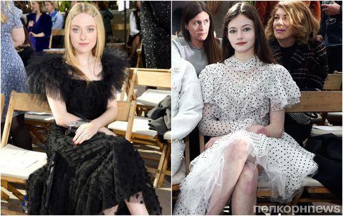 Мини-воссоединение «Сумерек»: Маккензи Фой и Дакота Фаннинг на модном показе Rodarte
