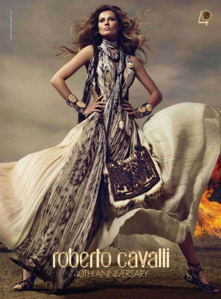 Жизель Бундхен для юбилейной рекламы Roberto Cavalli