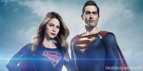 Видео: Тайлер Хэклин в образе Супермена на съемках 2 сезона «Супергерл»