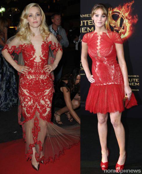 Fashion battle: Рэйчел МакАдамс и  Дженнифер Лоуренс