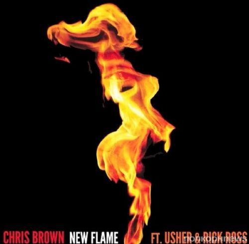 Новая песня Криса Брауна, Ашера и Рика Росса - New Flame
