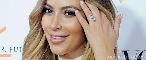 Ким Кардашьян похвасталась кольцом с огромным бриллиантом от Канье Уэста