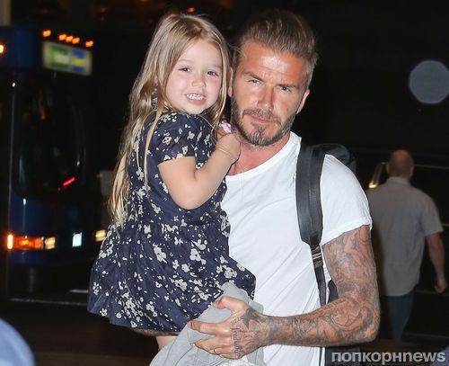 Дэвид Бекхэм сделал себе две татуировки по эскизам своих детей