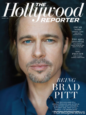 Брэд Питт в журнале Hollywood Reporter. Январь 2012
