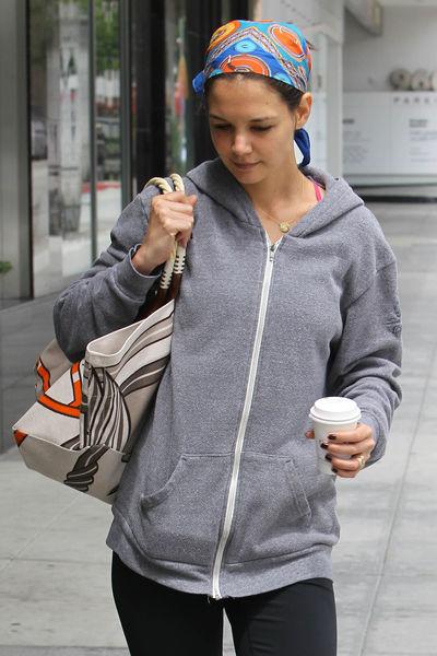 Кэти Холмс после тренировки в Лос-Анджелесе