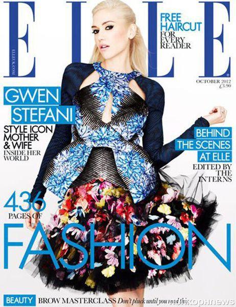 Гвен Стефани в журнале Elle Великобритания. Октябрь 2012