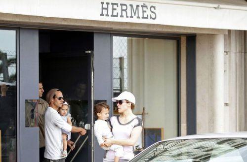 Дженнифер Лопес, Марк Энтони и близнецы в Монако