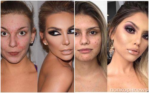 Два разных человека: как обычные девушки выглядят до и после профессионального макияжа