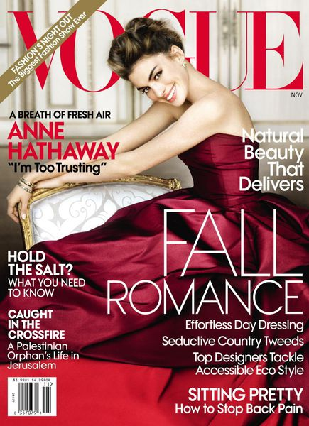 Энн Хэтэуэй в журнале Vogue US. Ноябрь 2010