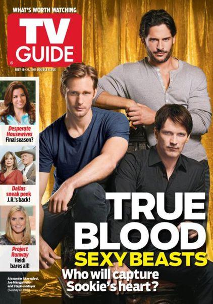 Стивен Мойер, Александр Скарсгард и Джо Манганьелло для TV Guide Magazine