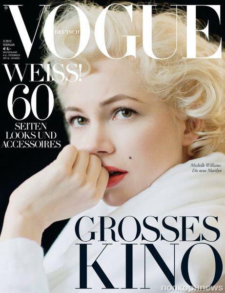 Мишель Уильямс в журнале Vogue Германия. Февраль 2012