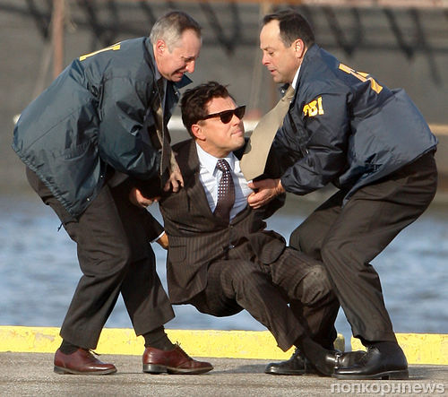 "Леонардо ДиКаприо арестовало ФБР. Съемки фильма ""Волк с Уолл-стрит"""